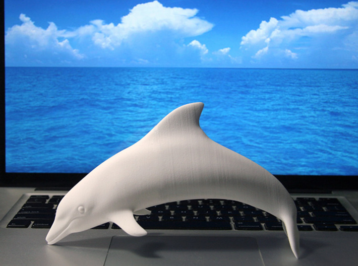 A Dolphin or Dolphins 3d printed Glue head and tail to make a large dolphin
