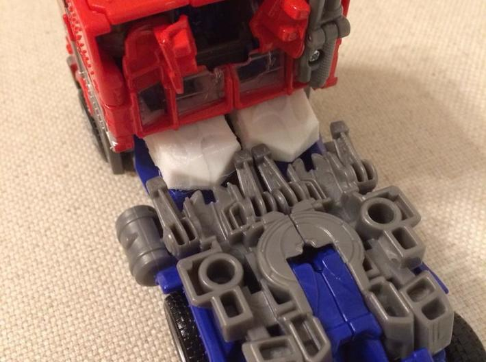 Shoulder Pads for Evasion Mode Optimus Prime 3d printed Vehicle mode image.