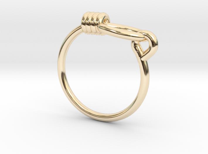 Noose Ring - Sz. 9 3d printed