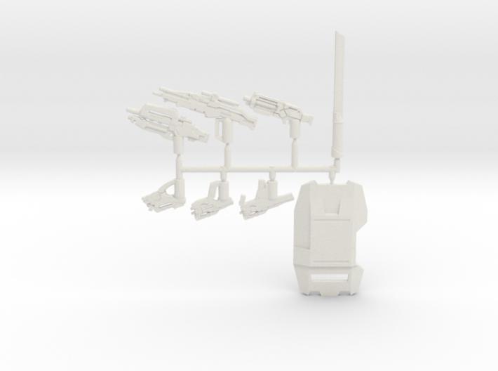 Cerberus Weapons Pack 3d printed
