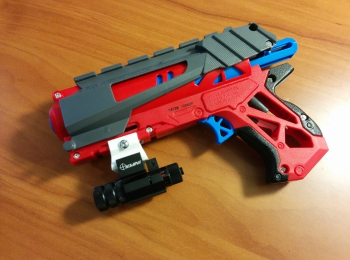 Nerf to Picatinny Adapter (2 Slots) 3d printed