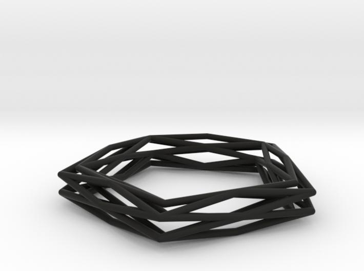 Interwined Bracelet 3d printed