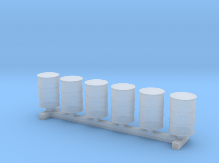 55 Gallon Drums 1:144 6pc 3d printed