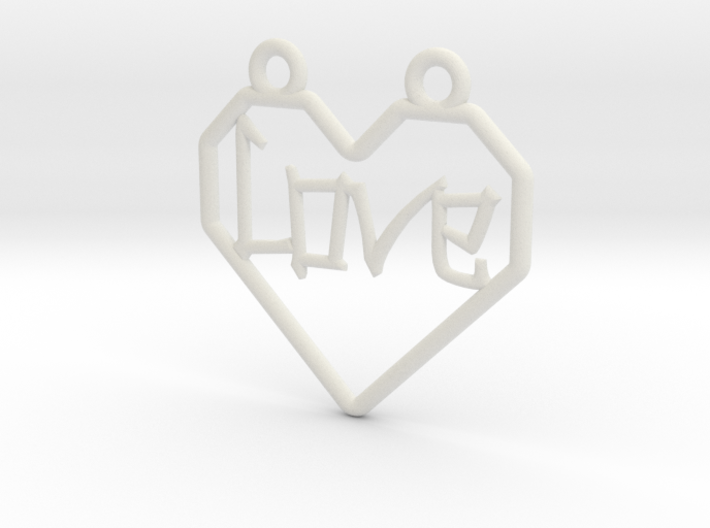 Origami Heart - outline 3d printed