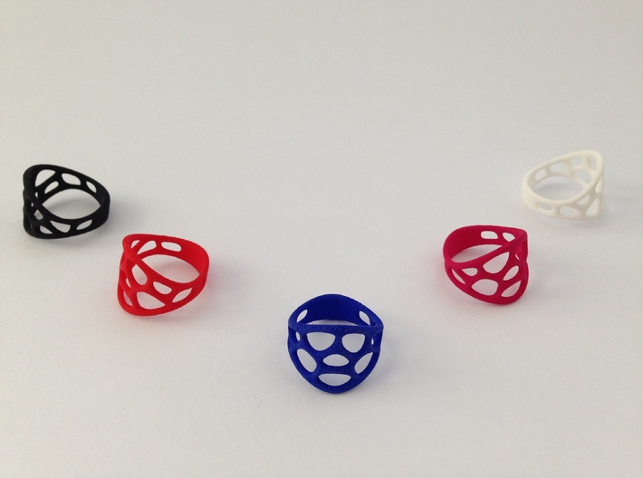 Cell Ring 3d printed Strong & flexible variations