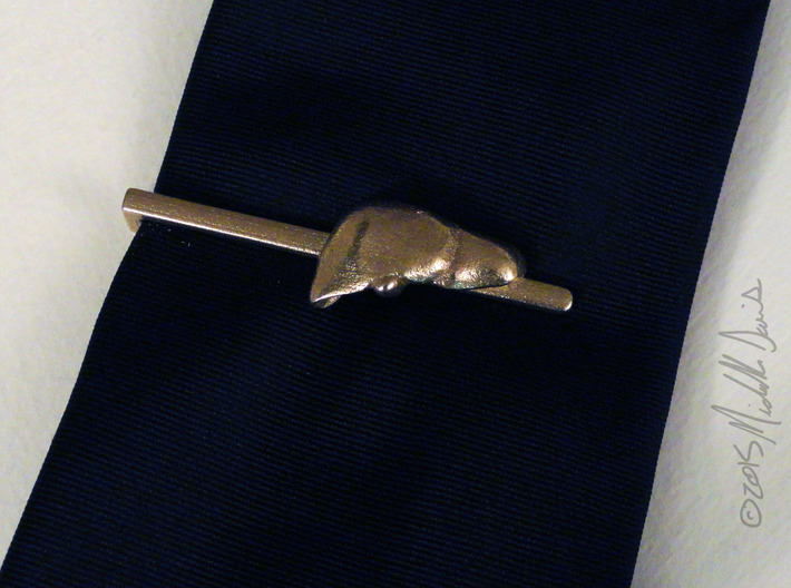 Anatomical Liver Tie Clip 3d printed Stainless Steel