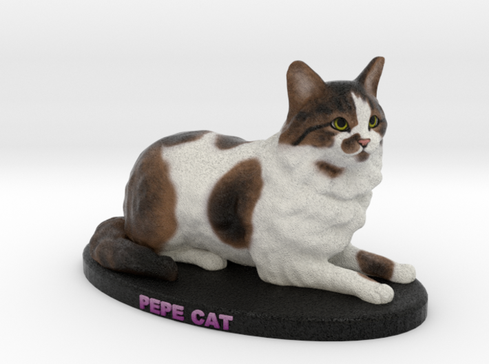 Custom Cat Figurine - Pepe Cat 3d printed