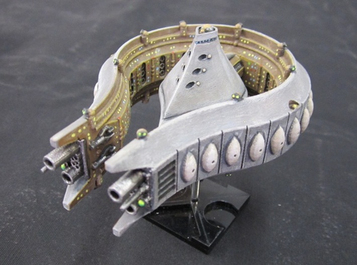Rushi Battle Carrier - Outer Belt 3d printed Assembled and Painted. Flight stand not included.