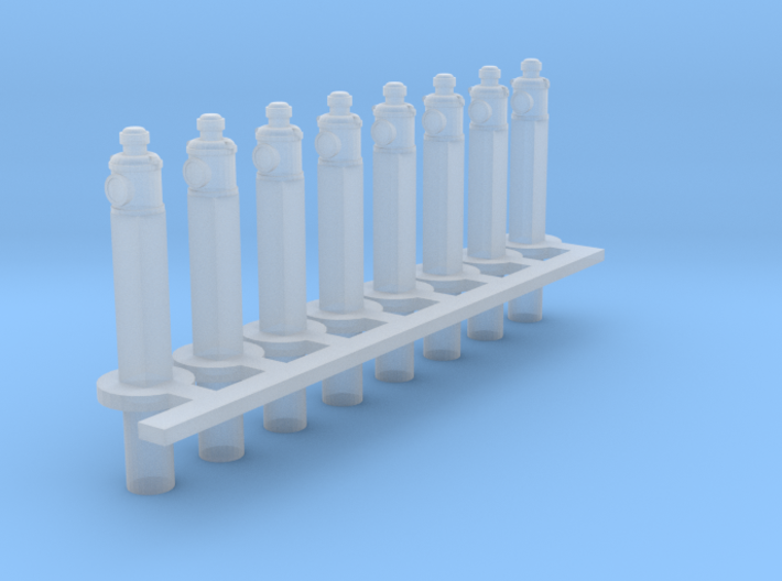 Clearance Posts with Lamps HO X 8 3d printed