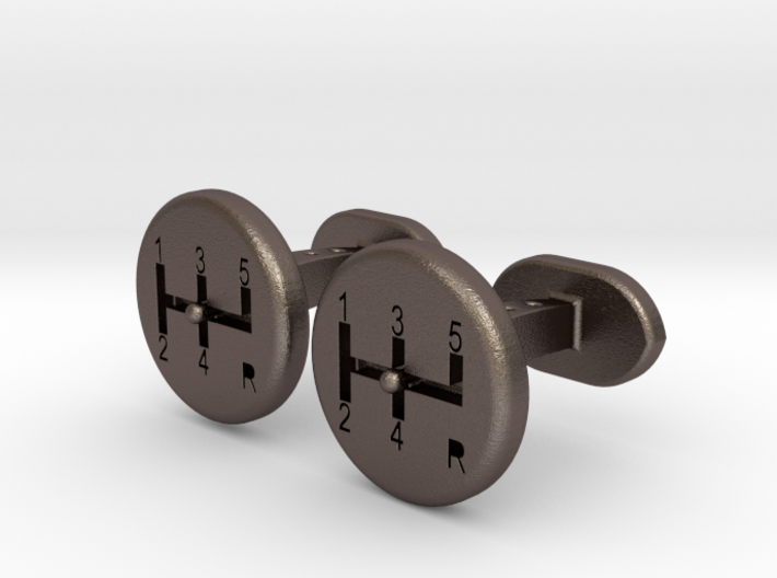 Gear Lever cufflinks 3d printed