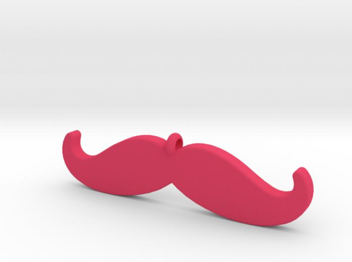 Mustache Pendant (2.2 cm - 0.9 in) 3d printed
