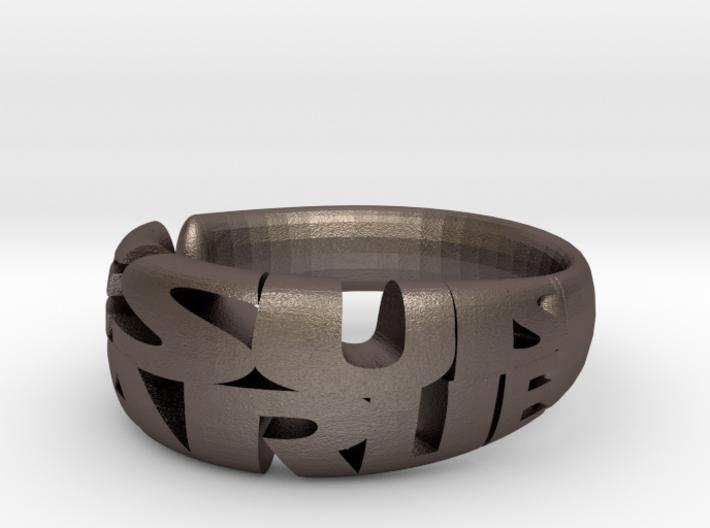 Je Suis Charlie Ring 3d printed