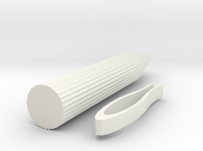Printable Stylus Base With Clip To Glue On 3d printed