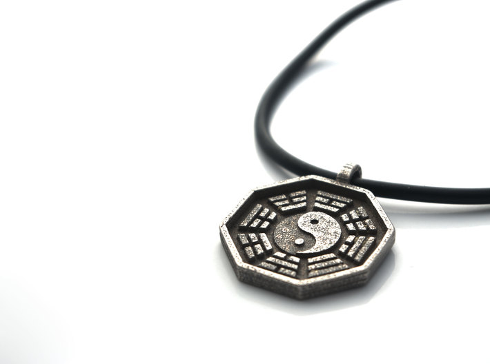 I ching yin yang pendant necklace gnzp8nf5k by niquegeek i ching yin yang pendant necklace 3d printed aloadofball Images