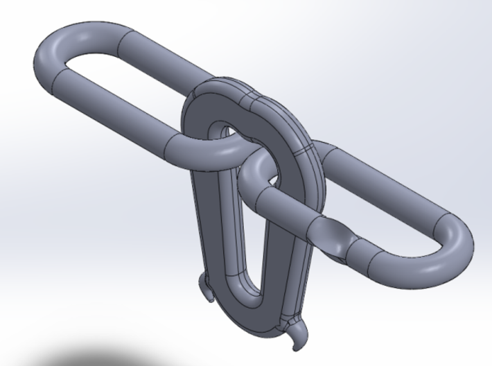 4mm (OO) Scale Instanta Couplings 3d printed Detail picture of individual Instanta and links. 20 No. like this supplied