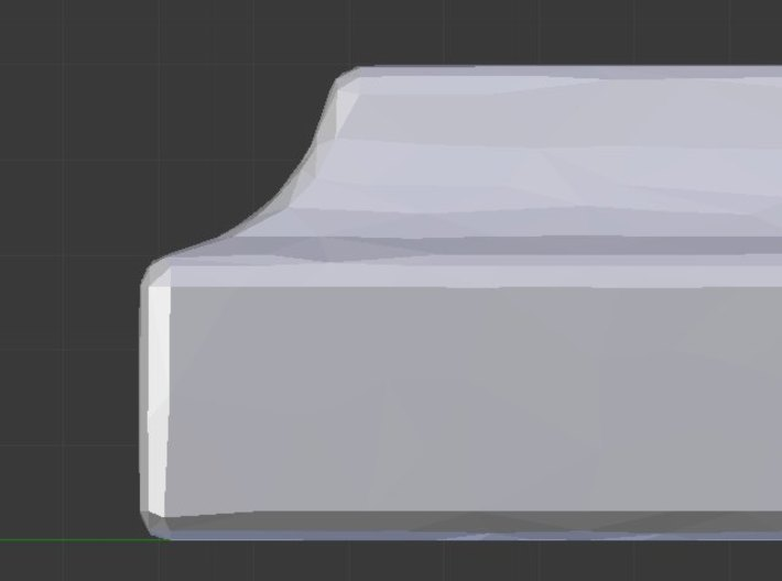 Write the bad things that are done to you 3d printed Edge profile