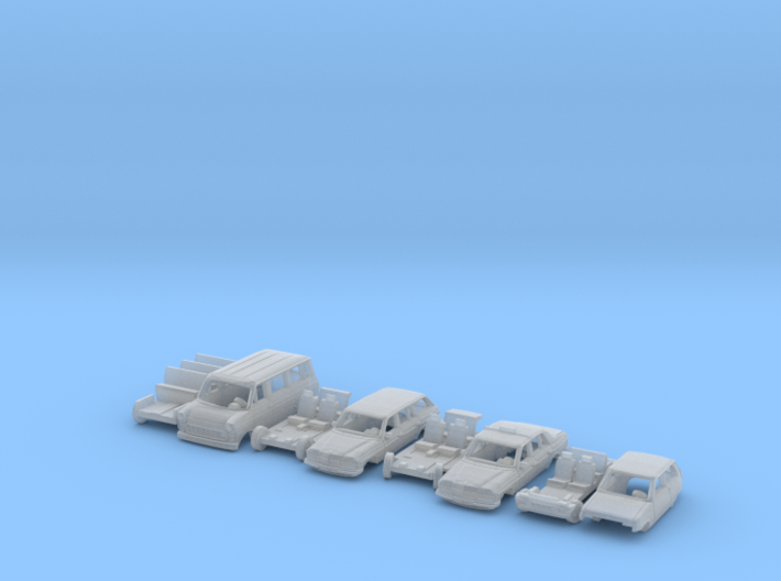 4x 1970s cars (SET B - TT 1:120) 3d printed