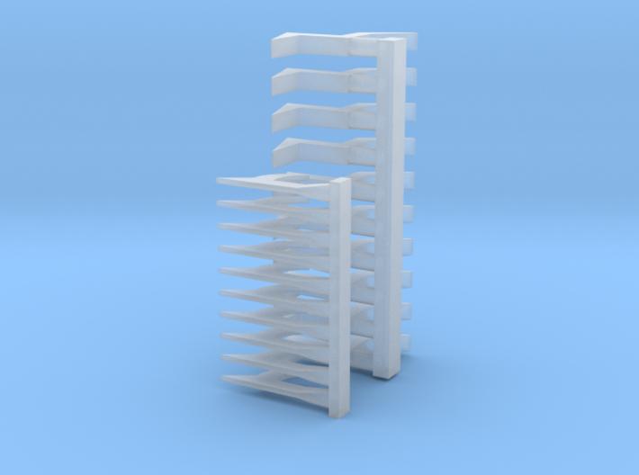 1/24 scale Roof Hook / Pike pole head set (10 each 3d printed