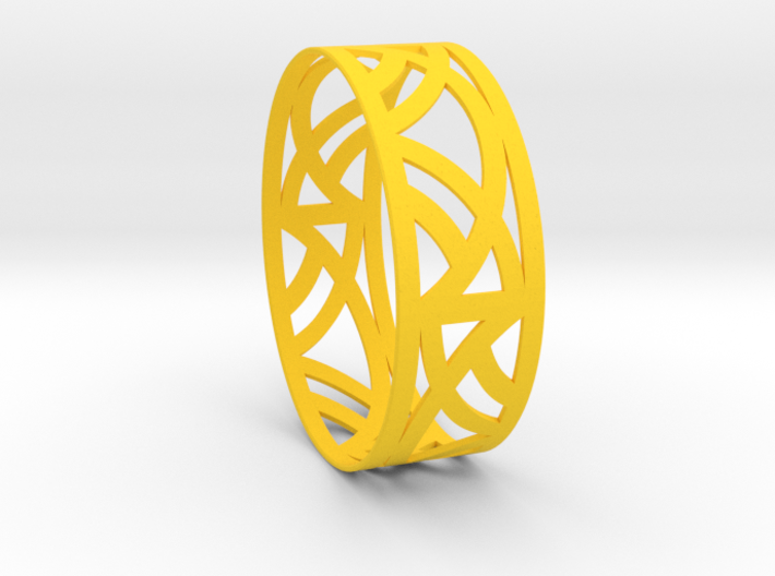 Art Deco Bangle Bracelet  3d printed