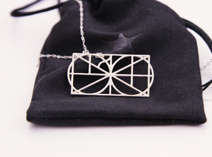 A Monogram Of The Alphabet Pendant  3d printed