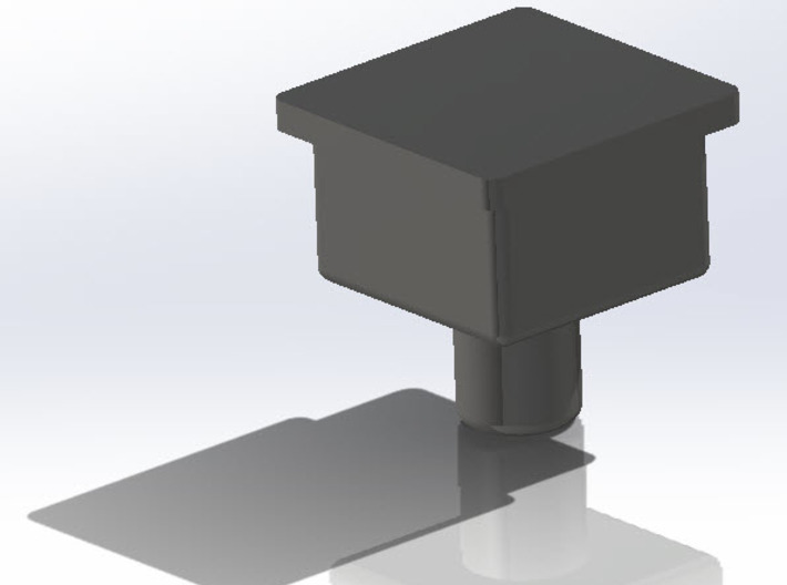 Combiner Socket Peg Solid Block 3d printed