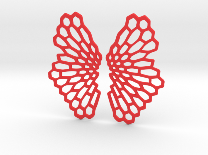 Honeycomb Butterfly Earrings / Pendant 3d printed