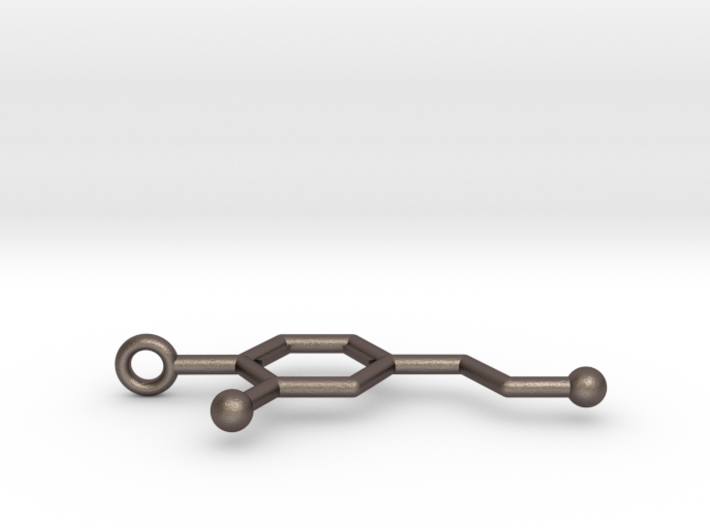 Dopamine Keychain Stainless Steel 3d printed