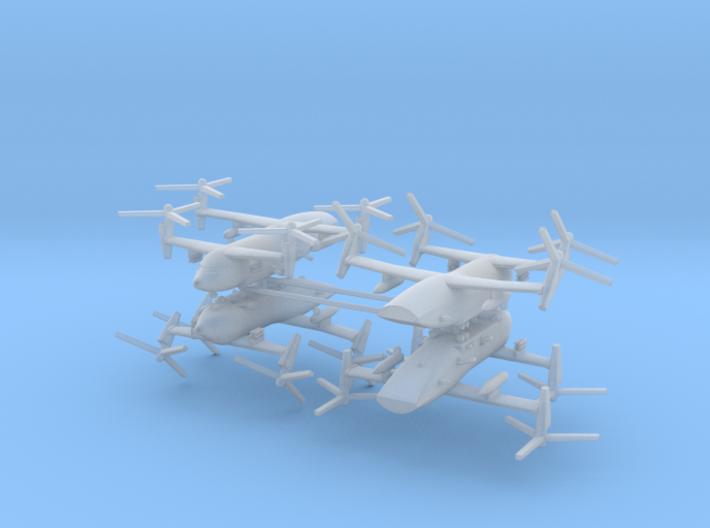 1/700 Bell Boeing Quad Tiltrotor Gunship (x4) 3d printed