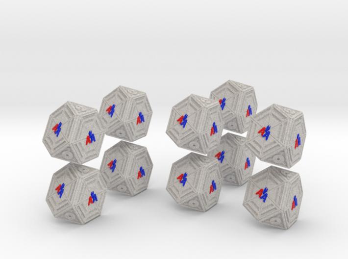 1-56 5xSci-Fi Cargo Module Full Color 3d printed