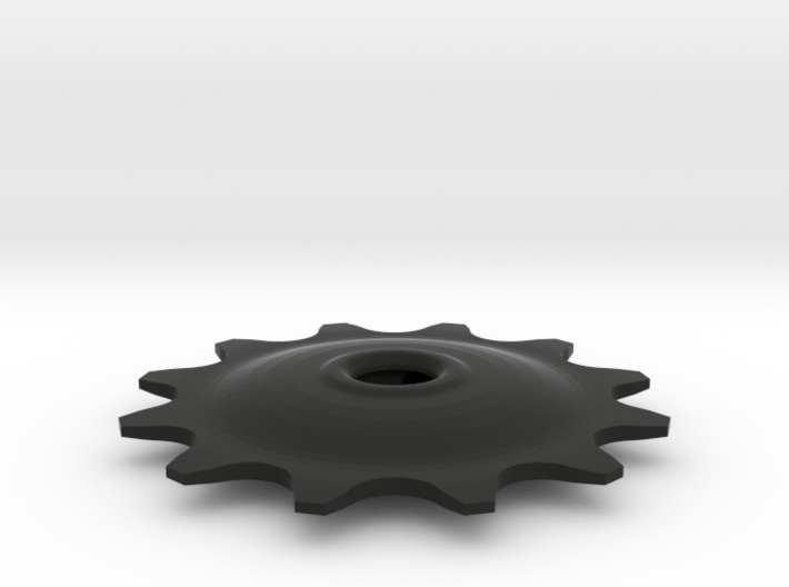 Pulley 12t for RD, hollow, flange (lower pulley) 3d printed