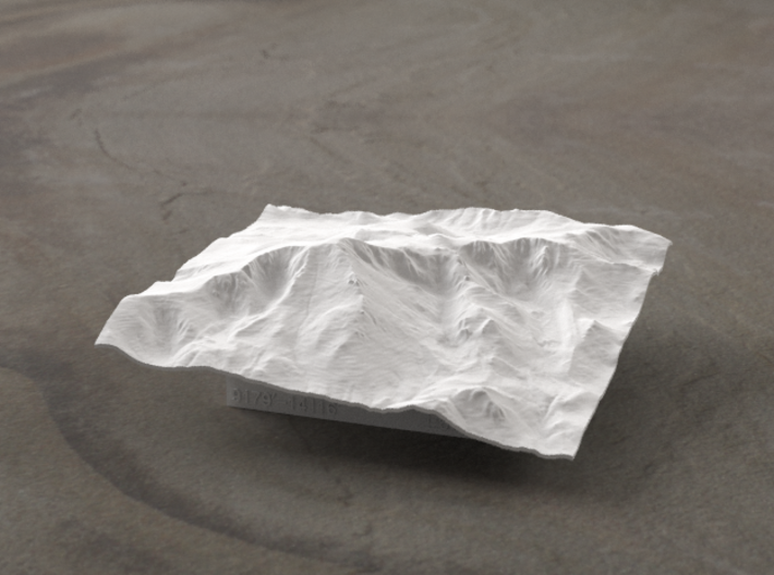 4'' Pikes Peak, Colorado, USA 3d printed