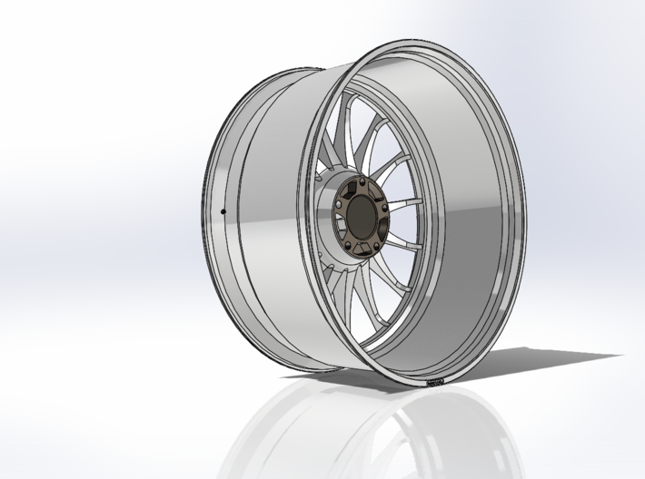 "OZ WRC 20""x9J 5x114mm (1:8) 3d printed 3D Printed OZ WRC Replica"
