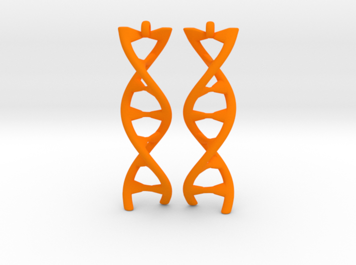 DNA Earring 3d printed
