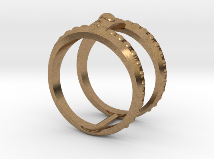 Double Ring Size 7 3d printed