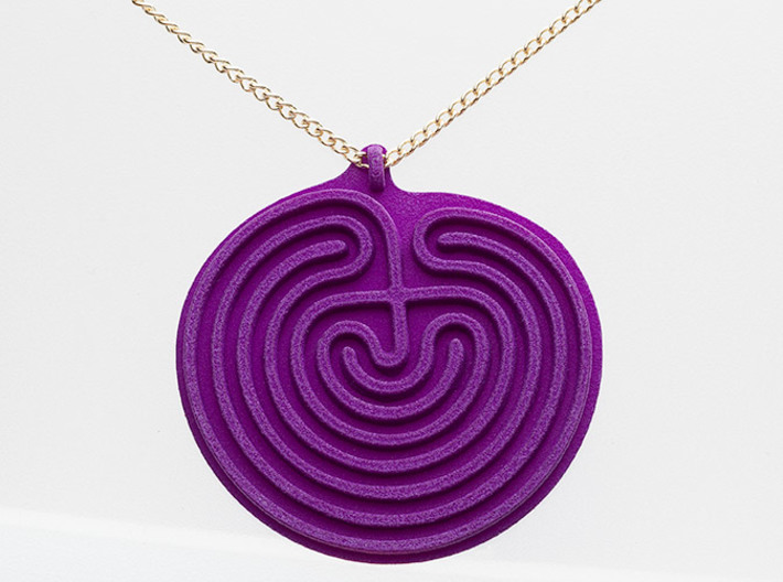 Classical Labyrinth Pendant 3d printed
