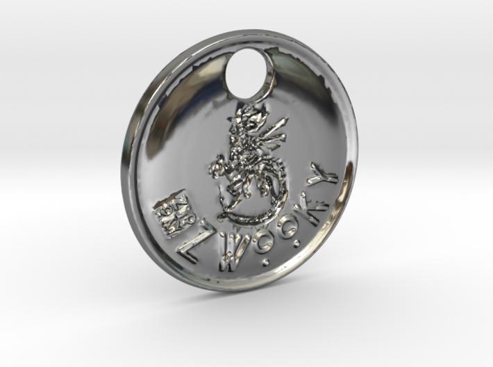 ZWOOKY Style 104 Sample - keychain alien 3d printed