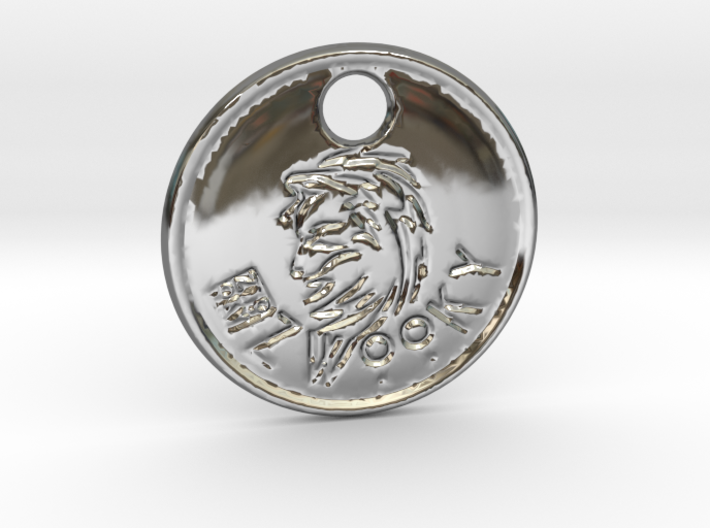 ZWOOKY Style 81 Sample - keychain wolve 3d printed