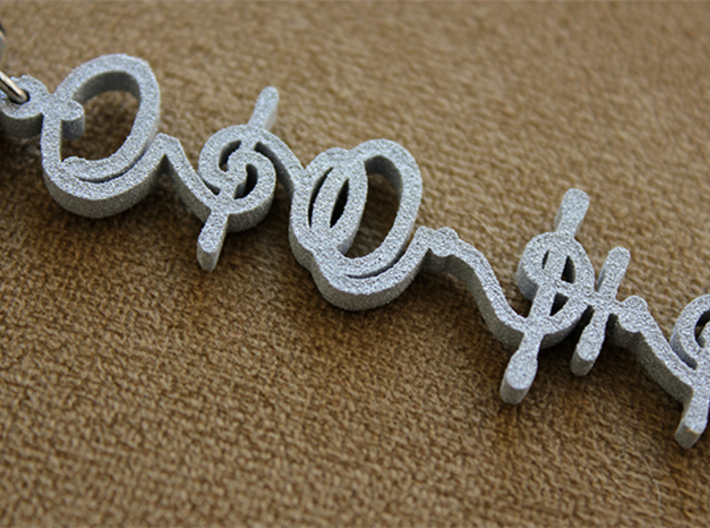 """T'hy'la"" (Friend/Brother/Lover) Vulcan Necklace 3d printed Pictured: Metallic Plastic"