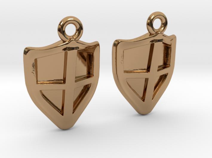 Shield Earrings 3d printed