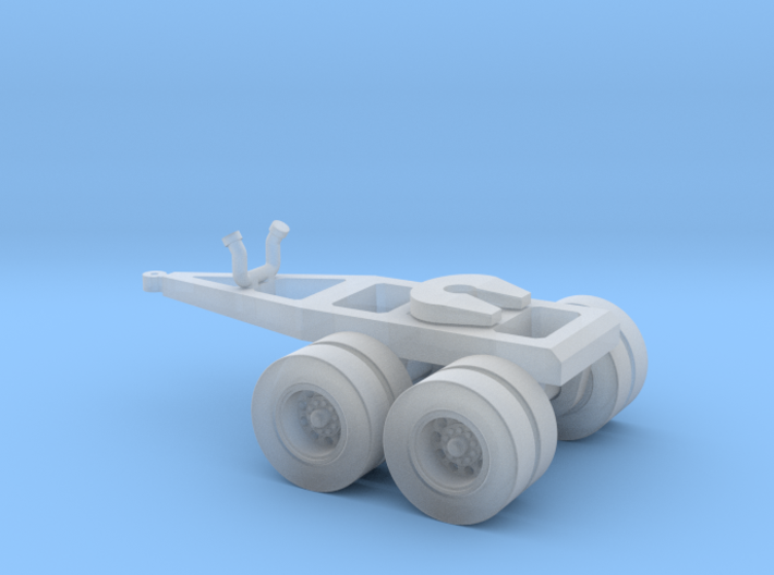 N scale 1/160 Twin Axle Dolly - road trains 3d printed