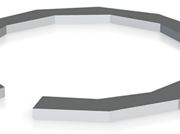 Hexagon Open Cuff 3d printed