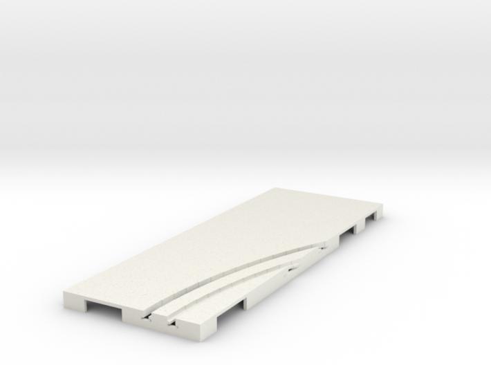 P-65stp-straight-rh-curve-inner-145r-100-pl-1a 3d printed