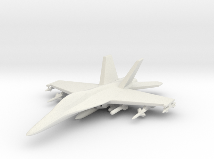 1/285 (6mm) F-18 Super Hornet w/Ordnance Pack-1 3d printed
