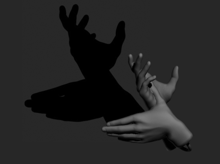 Deer - Hand Shadows 3d printed A deer!