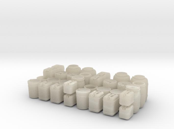 Liquid container set 3d printed