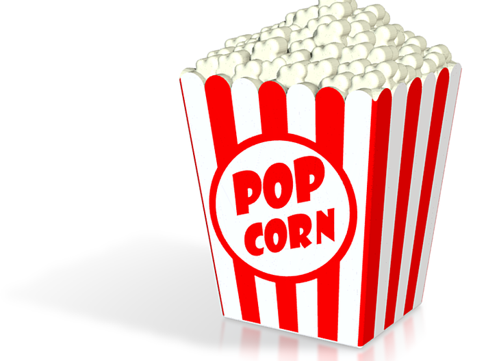 Popcorn miniature in full color 3d printed