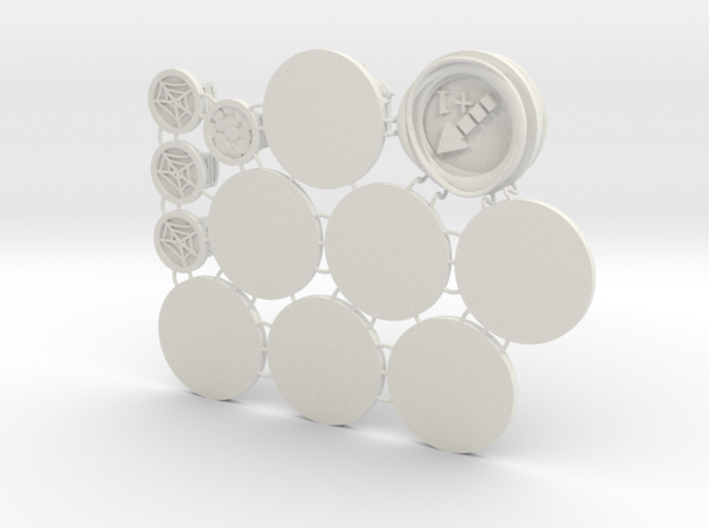 Claustro Tokens (12 pcs) 3d printed Bottom render