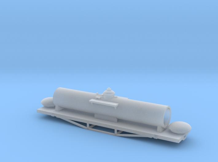 Nz120 Ubs (SULPHURIC ACID) Tank Wagon Body 3d printed