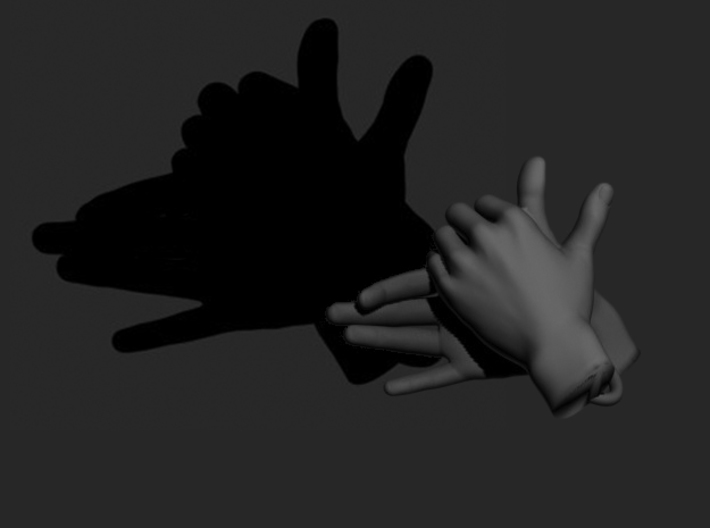 Dog - Hand Shadows 3d printed It's a dog! Woof! Woof!
