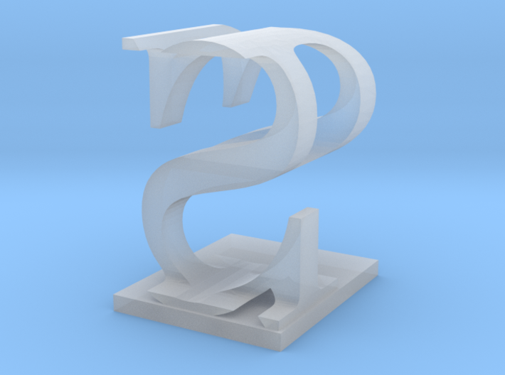 Two way letter / initial P&S 3d printed